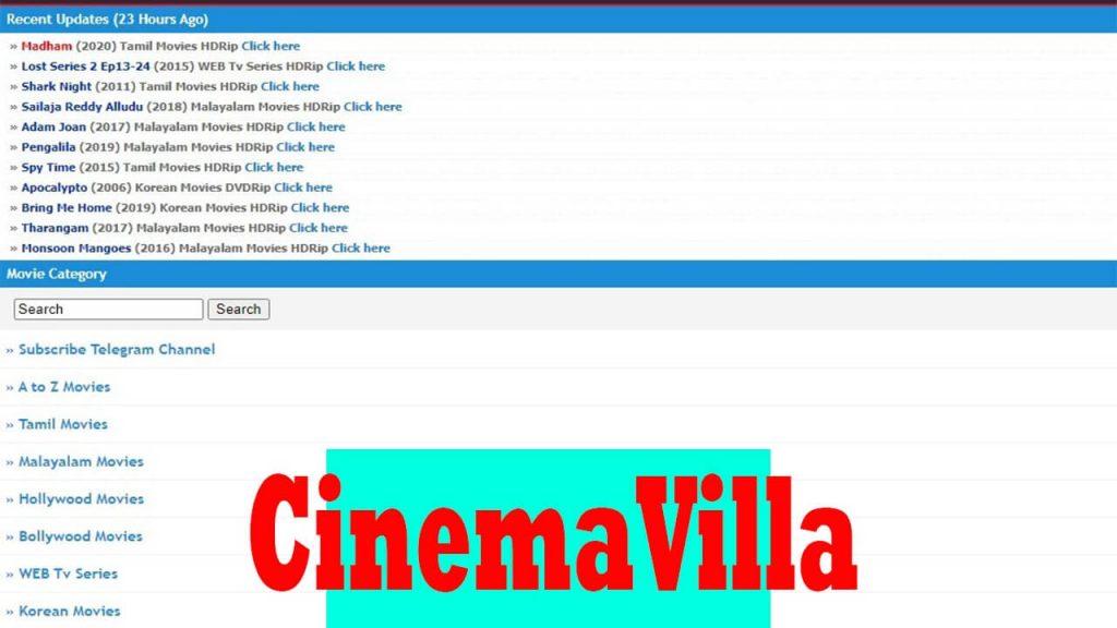 Cinemavilla - Download Tamil, Telugu, Malayalam Movies for Free